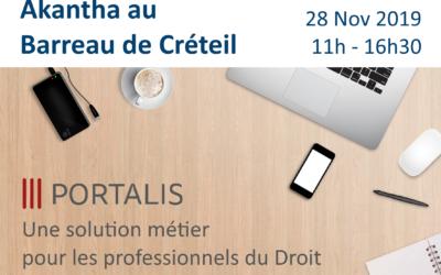 Présentation Portalis Barreau de Créteil